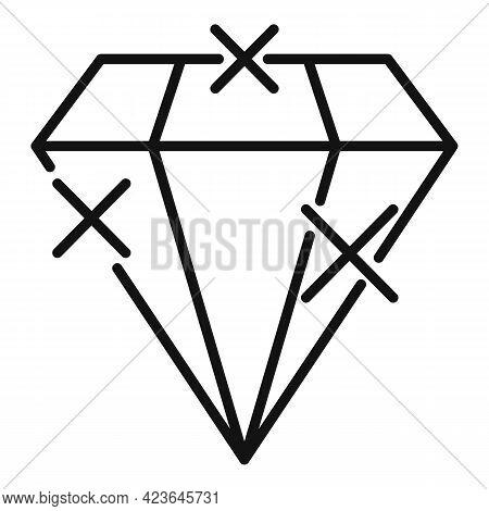 Bonus Diamond Icon. Outline Bonus Diamond Vector Icon For Web Design Isolated On White Background