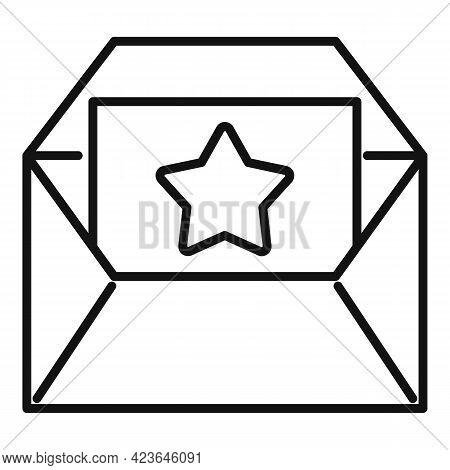 Bonus Envelope Icon. Outline Bonus Envelope Vector Icon For Web Design Isolated On White Background