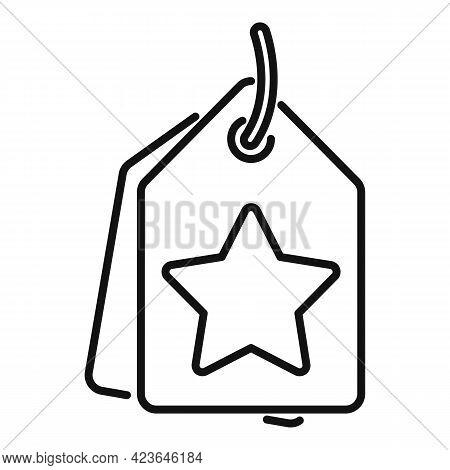 Sale Bonus Tag Icon. Outline Sale Bonus Tag Vector Icon For Web Design Isolated On White Background