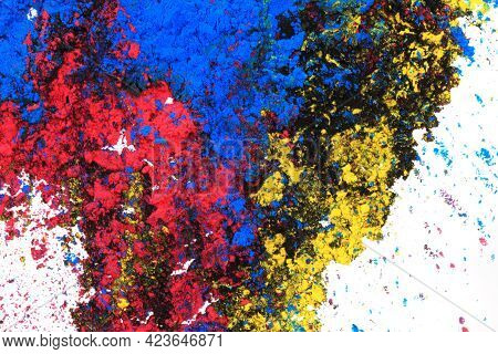 Cyan, Magenta, Black And Yellow Colors Texture