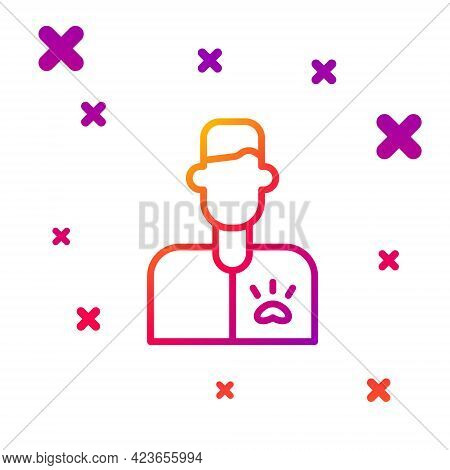 Color Line Veterinarian Doctor Icon Isolated On White Background. Gradient Random Dynamic Shapes. Ve