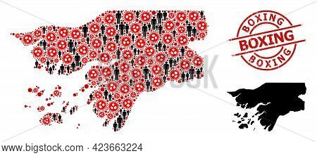 Mosaic Map Of Guinea-bissau Designed From Sars Virus Items And Population Items. Boxing Distress Wat