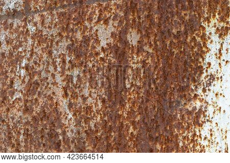 Rusty Old Metal Surface. Corroded Metal Wall. Backgrounds And Textures Ideas.