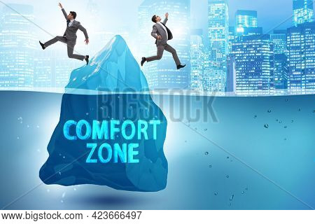 Concept of leaving zone of comfort