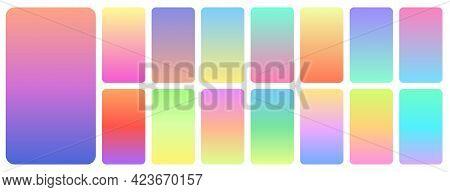 Pastel Gradient Background. Soft Pastels Color, Abstract Gradients Design. Blue Purple Modern Wallpa