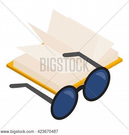 Blind Book Icon. Isometric Illustration Of Blind Book Vector Icon For Web