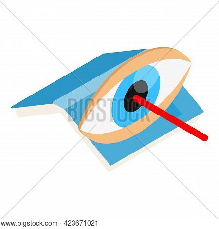 Laser Surgery Icon. Isometric Illustration Of Laser Surgery Vector Icon For Web