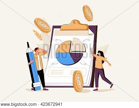 Tax Return Deadline Abstract Concept Vector Illustration Set. Paper Or Phone Tax Filing, Fill Out Yo