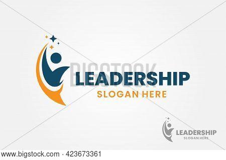 Success People Logo Template Design. Leadership Logo Concept. Healthy Life Vector Illustration.