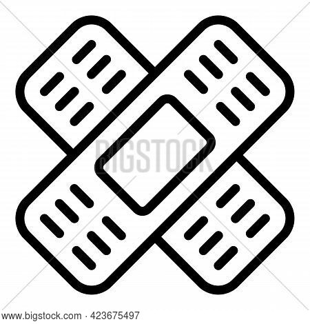 Veterinary Clinic Plaster Icon. Outline Veterinary Clinic Plaster Vector Icon For Web Design Isolate