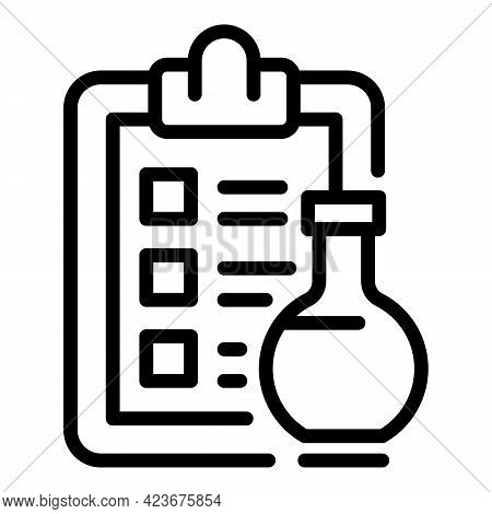 Veterinary Clipboard Icon. Outline Veterinary Clipboard Vector Icon For Web Design Isolated On White