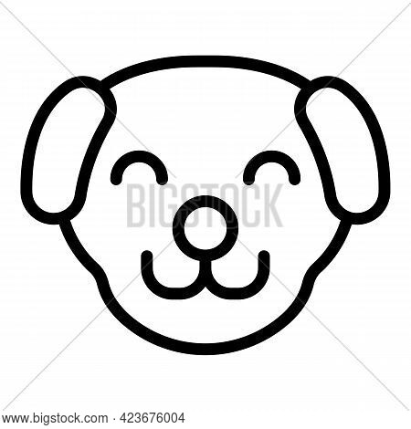 Veterinary Clinic Dog Icon. Outline Veterinary Clinic Dog Vector Icon For Web Design Isolated On Whi