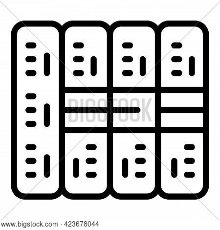 Server Stack Internet Icon. Outline Server Stack Internet Vector Icon For Web Design Isolated On Whi
