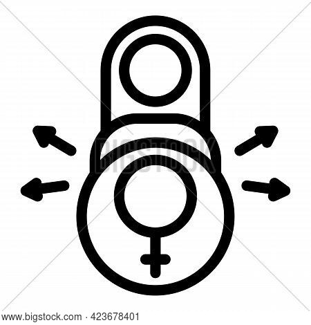 Gender Identity Boy Icon. Outline Gender Identity Boy Vector Icon For Web Design Isolated On White B