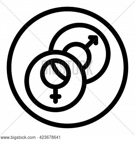 Gender Identity Human Icon. Outline Gender Identity Human Vector Icon For Web Design Isolated On Whi