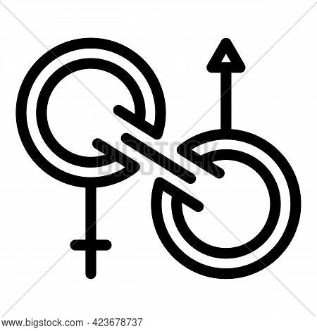 Gender Identity Genderqueer Icon. Outline Gender Identity Genderqueer Vector Icon For Web Design Iso