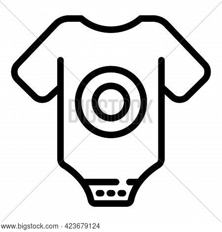 Baby Boy Clothes Icon. Outline Baby Boy Clothes Vector Icon For Web Design Isolated On White Backgro