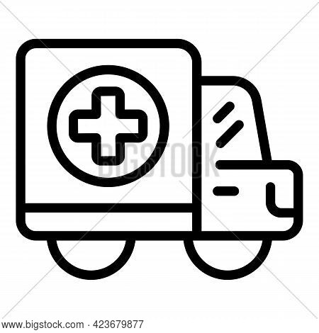 Maternity Ambulance Icon. Outline Maternity Ambulance Vector Icon For Web Design Isolated On White B