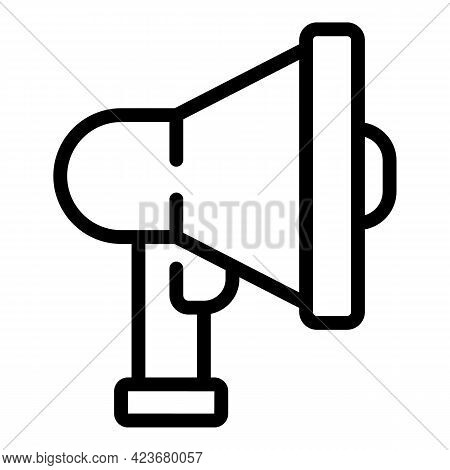 Megaphone Search Engine Icon. Outline Megaphone Search Engine Vector Icon For Web Design Isolated On