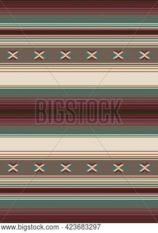 Tribal Vector Seamless Pattern. Native Indian Ornament. Ethnic South Western Decor. Boho Geometric O
