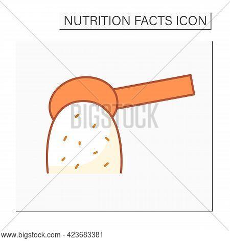 Add Sugars Color Icon. Sugar Carbohydrates. Nutrition Facts. Healthy, Balanced Nutrition Concept. Di