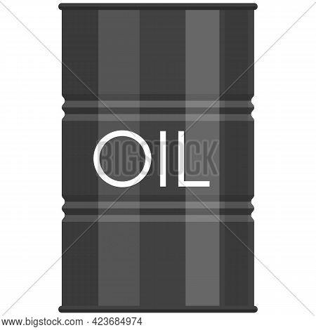 Oil Barrel Vector Icon, Petrol Fuel Gallon Metal Container Icon