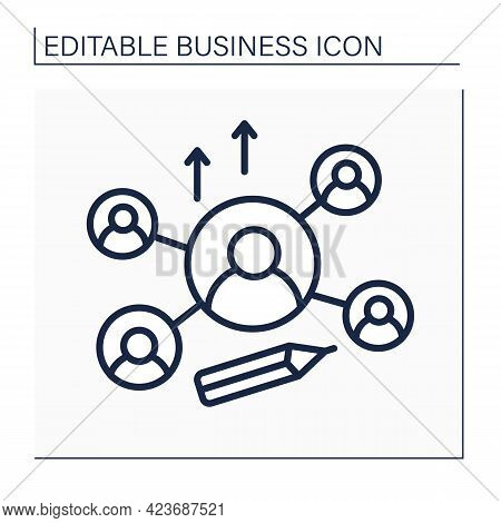 Networking Line Icon. Attract New Investors Or Clients. Communication With Potential Clients. Busine