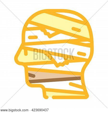 Mummy Fear Color Icon Vector. Mummy Fear Sign. Isolated Symbol Illustration