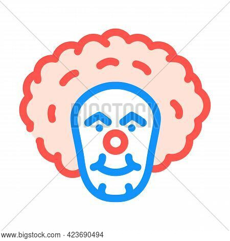 Clown Fear Color Icon Vector. Clown Fear Sign. Isolated Symbol Illustration