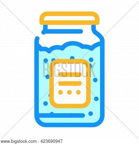 Bottle For Storage Gluten Free Food Color Icon Vector. Bottle For Storage Gluten Free Food Sign. Iso