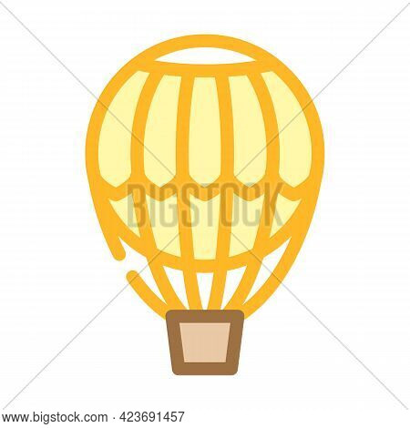 Hydrogen Weather Balloon Color Icon Vector. Hydrogen Weather Balloon Sign. Isolated Symbol Illustrat