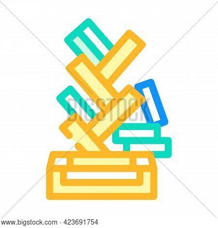 Design Shelf Furniture Color Icon Vector. Design Shelf Furniture Sign. Isolated Symbol Illustration
