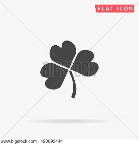 Shamrock Leaf Flat Vector Icon. Hand Drawn Style Design Illustrations.