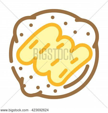 Cookies With Peanut Butter Color Icon Vector. Cookies With Peanut Butter Sign. Isolated Symbol Illus