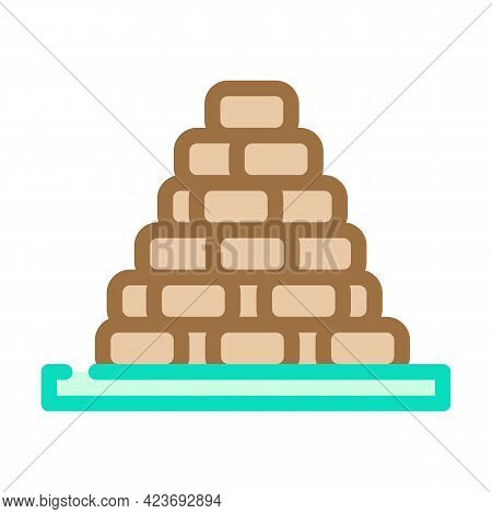 Heap Of Peat Color Icon Vector. Heap Of Peat Sign. Isolated Symbol Illustration