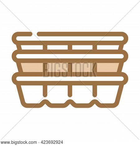 Cassette Peat Color Icon Vector. Cassette Peat Sign. Isolated Symbol Illustration