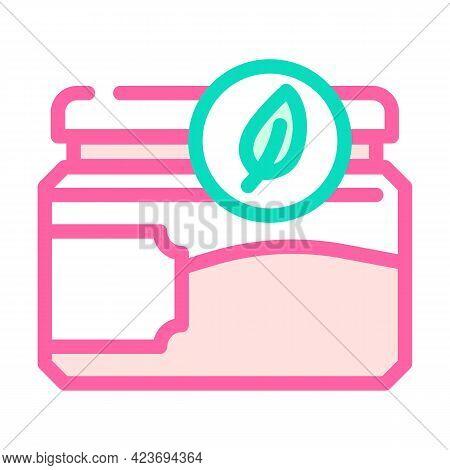 Jar For Cosmetics Zero Waste Color Icon Vector. Jar For Cosmetics Zero Waste Sign. Isolated Symbol I