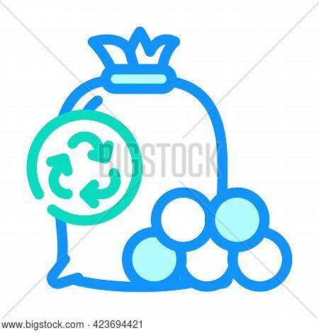 Drying Balls Zero Waste Color Icon Vector. Drying Balls Zero Waste Sign. Isolated Symbol Illustratio