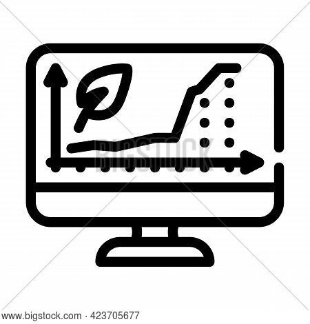 Increase Rate Chia Cryptocurrency Online Trade Market Line Icon Vector. Increase Rate Chia Cryptocur