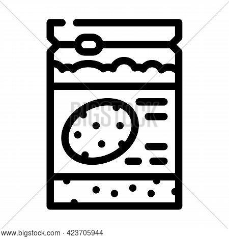 Sorghum Gluten Free Line Icon Vector. Sorghum Gluten Free Sign. Isolated Contour Symbol Black Illust
