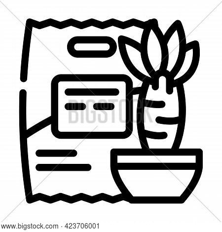 Yucca Food Gluten Free Line Icon Vector. Yucca Food Gluten Free Sign. Isolated Contour Symbol Black