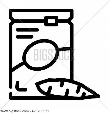 Cassava Gluten Free Line Icon Vector. Cassava Gluten Free Sign. Isolated Contour Symbol Black Illust