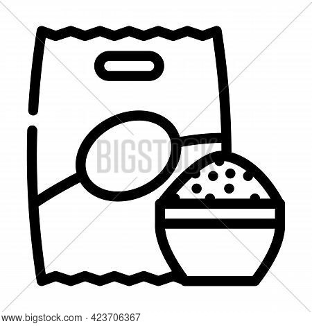 Rice Food Gluten Free Line Icon Vector. Rice Food Gluten Free Sign. Isolated Contour Symbol Black Il