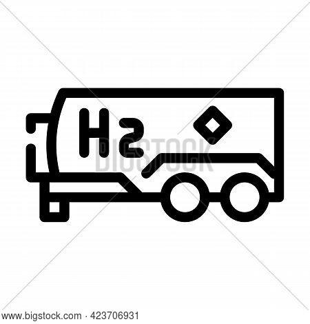 Tank Hydrogen Line Icon Vector. Tank Hydrogen Sign. Isolated Contour Symbol Black Illustration