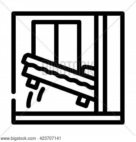Wardrobe Bed Line Icon Vector. Wardrobe Bed Sign. Isolated Contour Symbol Black Illustration