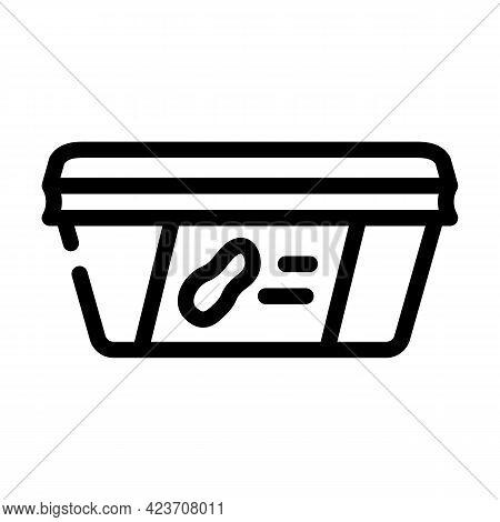 Paste Peanut Package Line Icon Vector. Paste Peanut Package Sign. Isolated Contour Symbol Black Illu