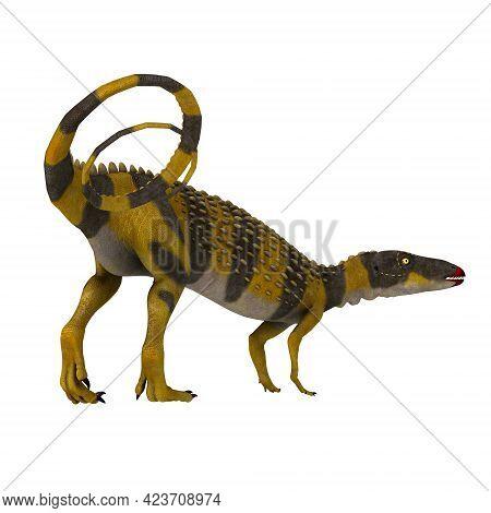Scutellosaurus Dinosaur With Tail 3d Illustration - Scutellosaurus Was An Armored Herbivorous Dinosa