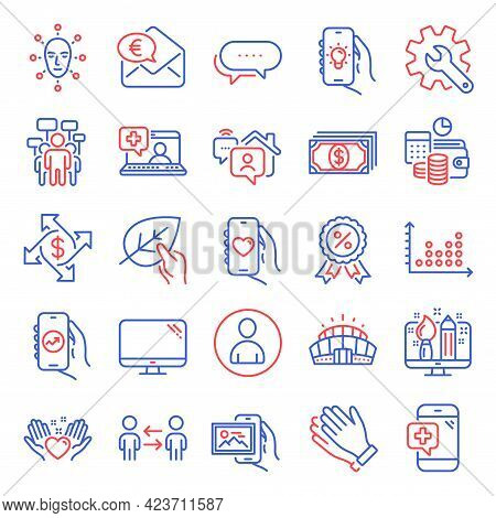 Business Icons Set. Included Icon As Voting Campaign, Work Home, Payment Exchange Signs. Customisati