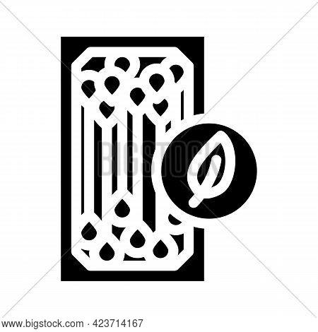 Ear Sticks Zero Waste Glyph Icon Vector. Ear Sticks Zero Waste Sign. Isolated Contour Symbol Black I