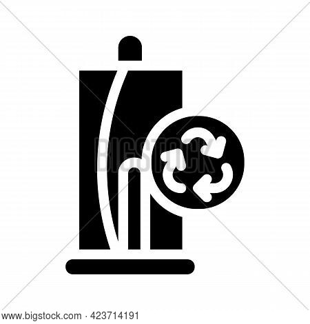 Towels Zero Waste Glyph Icon Vector. Towels Zero Waste Sign. Isolated Contour Symbol Black Illustrat